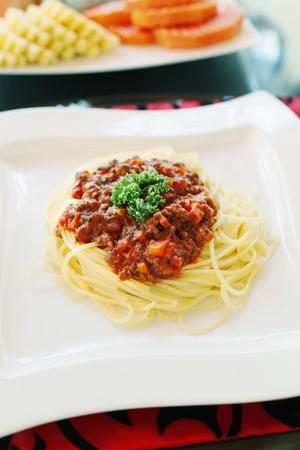 Spaghetti bolognese photo