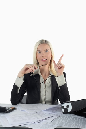 Businesswoman having an idea Stock Photo - 13361146