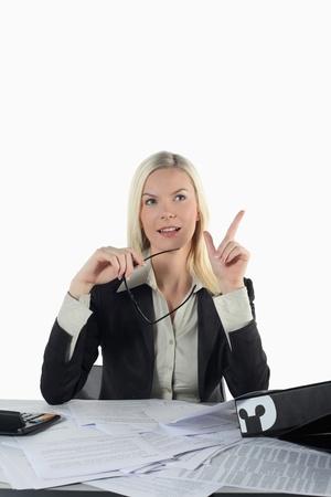 Businesswoman having an idea Stock Photo - 13361146