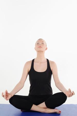 Woman meditating Stock Photo - 13361227