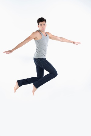 Man jumping in the air photo