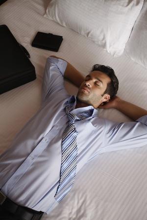 Businessman having a nap