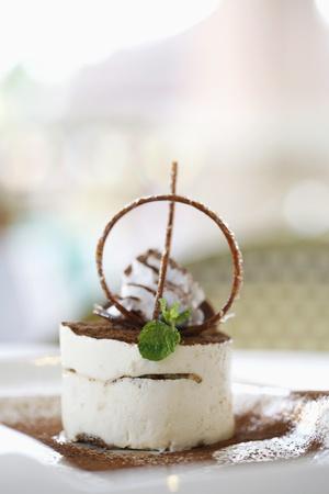 phuket food: Tiramisu dessert Stock Photo