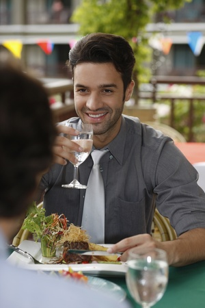 Businessmen having lunch at a restaurant Stock Photo - 13366765