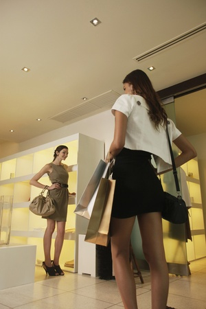 Women at shopping mall photo