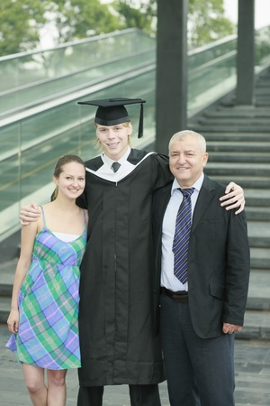 Graduate and his family Stock Photo - 13378323