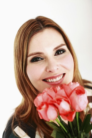 Woman holding roses Stock Photo - 13384132