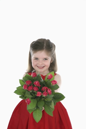 Girl with flowers Stock Photo - 13568340