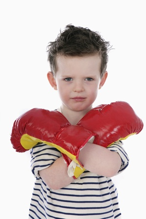 boy boxing: Boy with boxing gloves