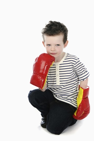 Boy with boxing gloves Stock Photo - 13558246