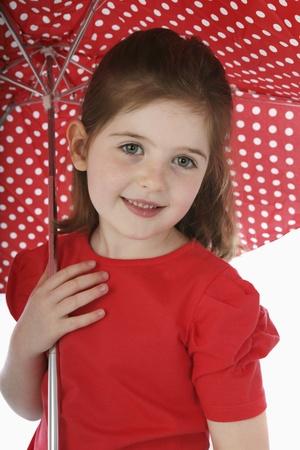 Girl with umbrella Stock Photo - 13558073