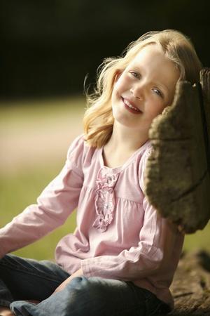 Girl smiling Stock Photo - 13558069