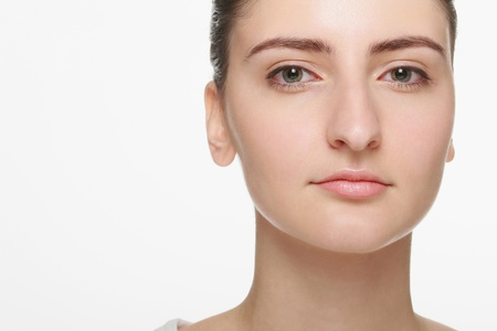 Close-up on woman photo