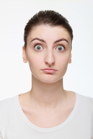 Woman looking shocked Stock Photo - 14658641