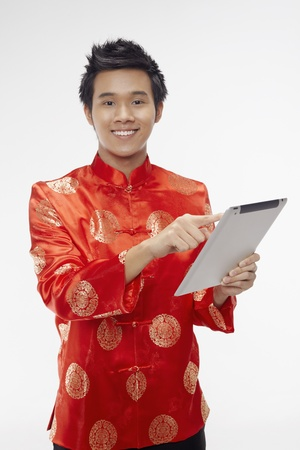 Man using digital tablet  Stock Photo - 17128865