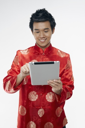 Man using digital tablet Stock Photo - 17128874