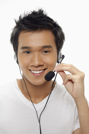 Man wearing headset Stock Photo - 17340310