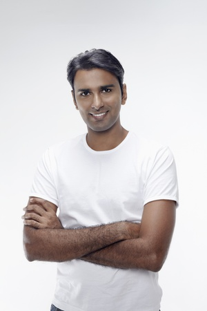 Man smiling with arms crossed Stock Photo - 17912846