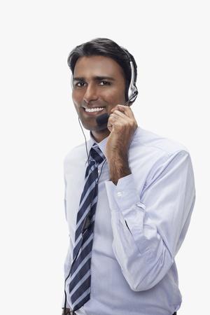 Businessman wearing headset Stock Photo - 17954566