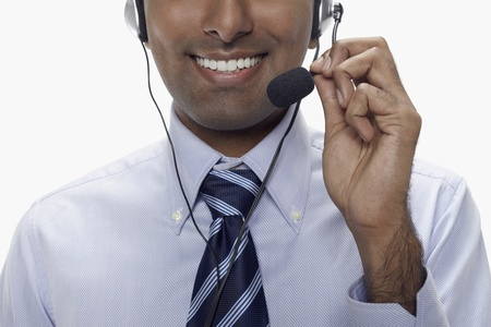 Businessman wearing headset Stock Photo - 17954574