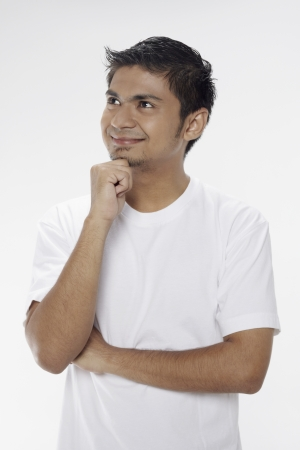 Man posing with hand on chin Stock Photo - 17962966