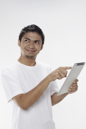 Man using digital tablet Stock Photo - 17962894