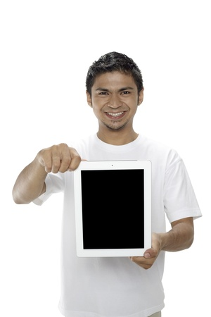 Man showing digital tablet Stock Photo - 17962729