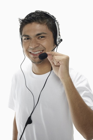 Man wearing headset Stock Photo - 17962747
