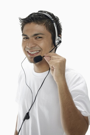 Man wearing headset Stock Photo - 17962746