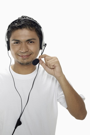 Man wearing headset Stock Photo - 17962741