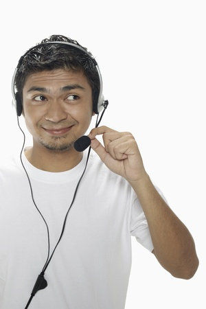 Man wearing headset Stock Photo - 17962740