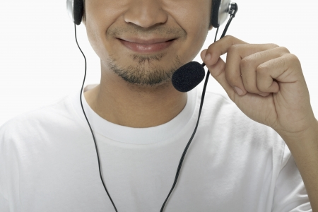Man wearing headset Stock Photo - 17962745