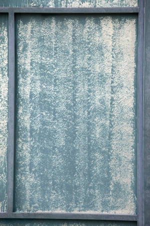 discolored: Surface of a discolored zinc sheet Stock Photo