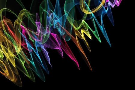 Abstract design with multi-colored lines Stock Photo - 19286018