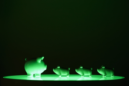 Side view shot of piggy banks Stock Photo - 19285027