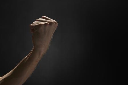 black grip: Grip of a human fist