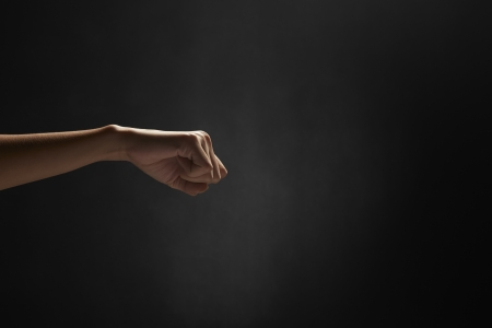 human fist: Human fist showing punching gesture