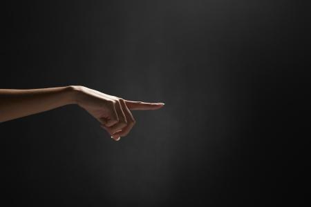 dedo indice: Dedo �ndice que se�ala a la izquierda