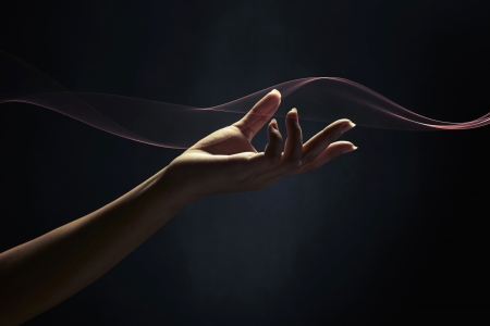 side effect: Gesture of a human hand
