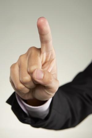 dedo indice: Dedo ?ndice levant?