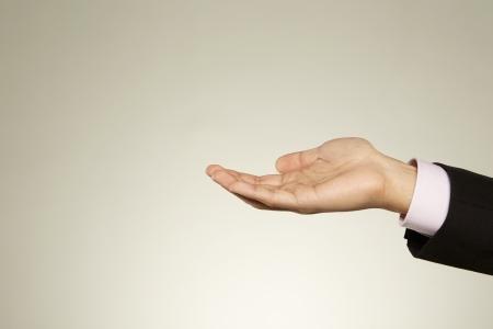 generosity: Persona que sostiene hacia fuera la palma