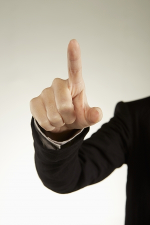dedo indice: Dedo �ndice que se�ala a una direcci�n Foto de archivo