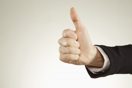 agree: Person giving thumbs up