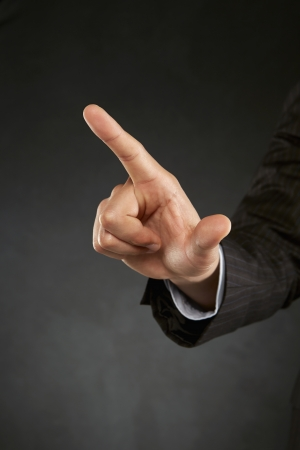 dedo indice: Dedo �ndice apuntando hacia una direcci�n
