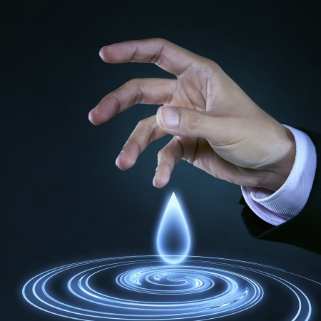 ripple effect: Drop of water with ripple effect