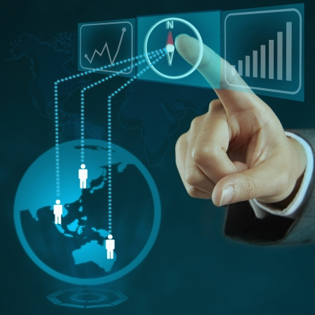 screen shot: Index finger pointing at Stock Photo