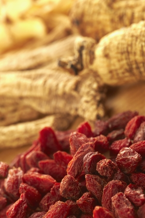 codonopsis roots: Traditional Chinese herb Chinese wolfberries and Dong Sum