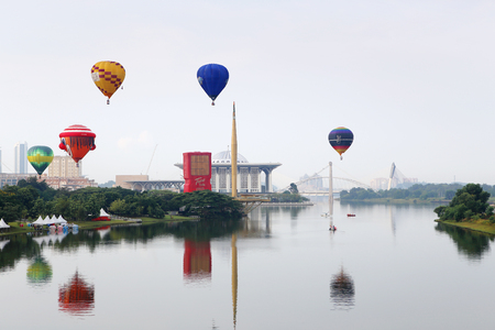 Hot air balloon exhibition at the 5th Putrajaya International Hot Air Balloon Fiesta 2013 on March 28, 2013