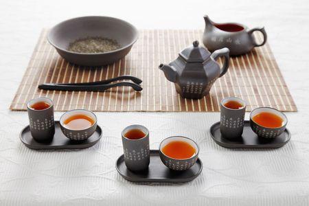 Chinese tea set photo