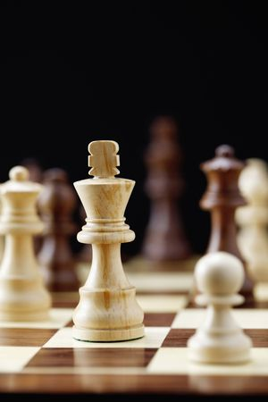 Chess pieces of King and pawn